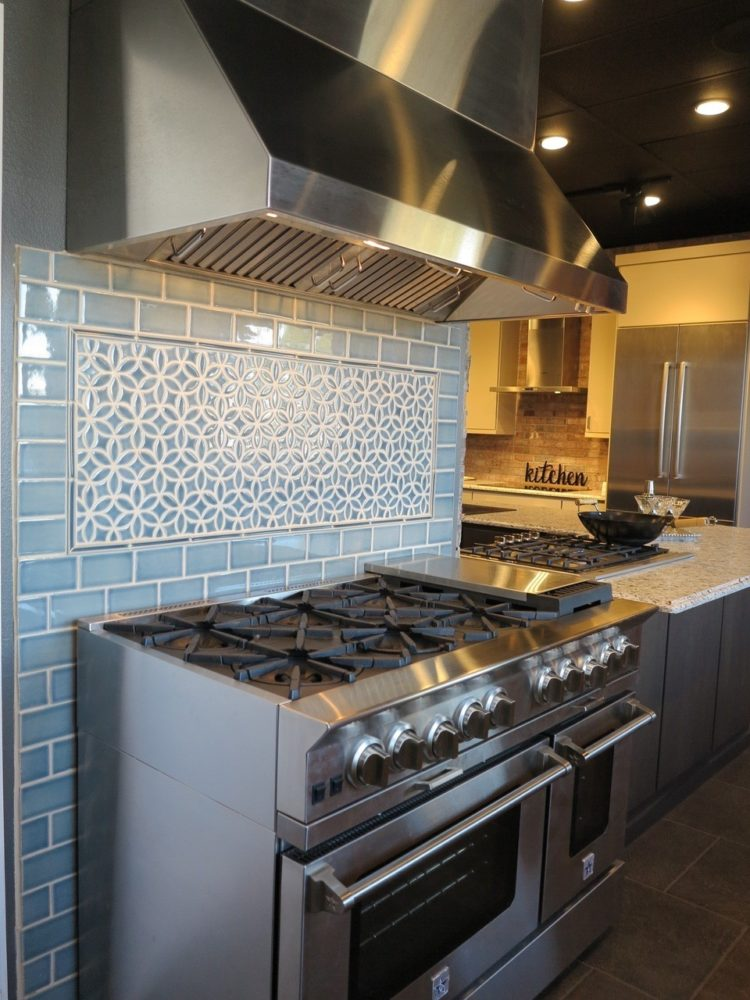 subway tile backsplash kitchen dark cabinets