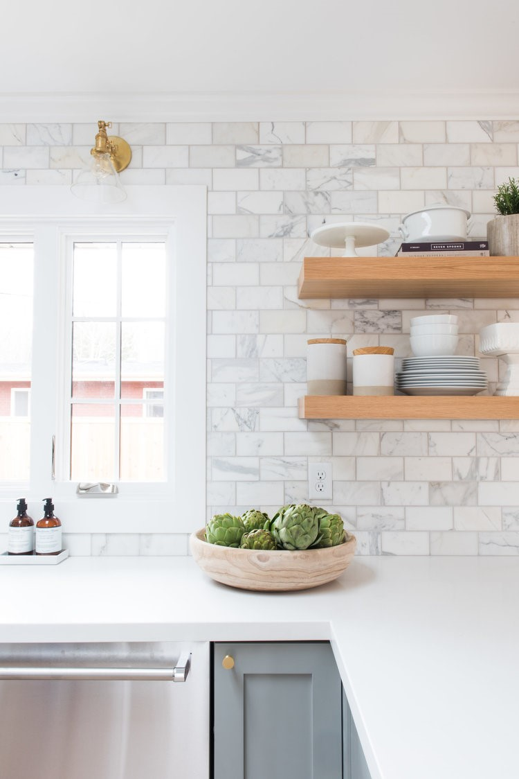 subway tile backsplash kitchen home depot