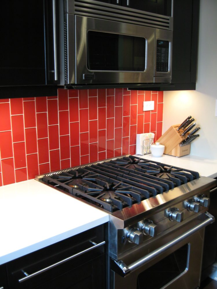 subway tile backsplash mastic