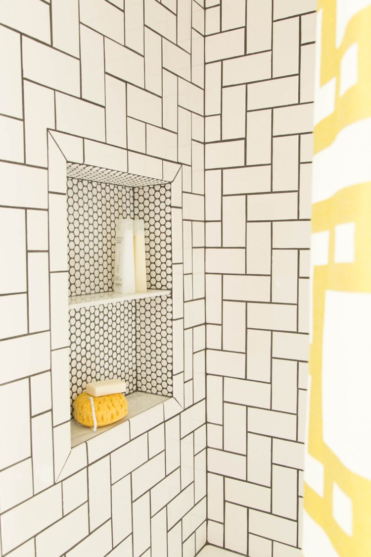 subway tile in bathroom