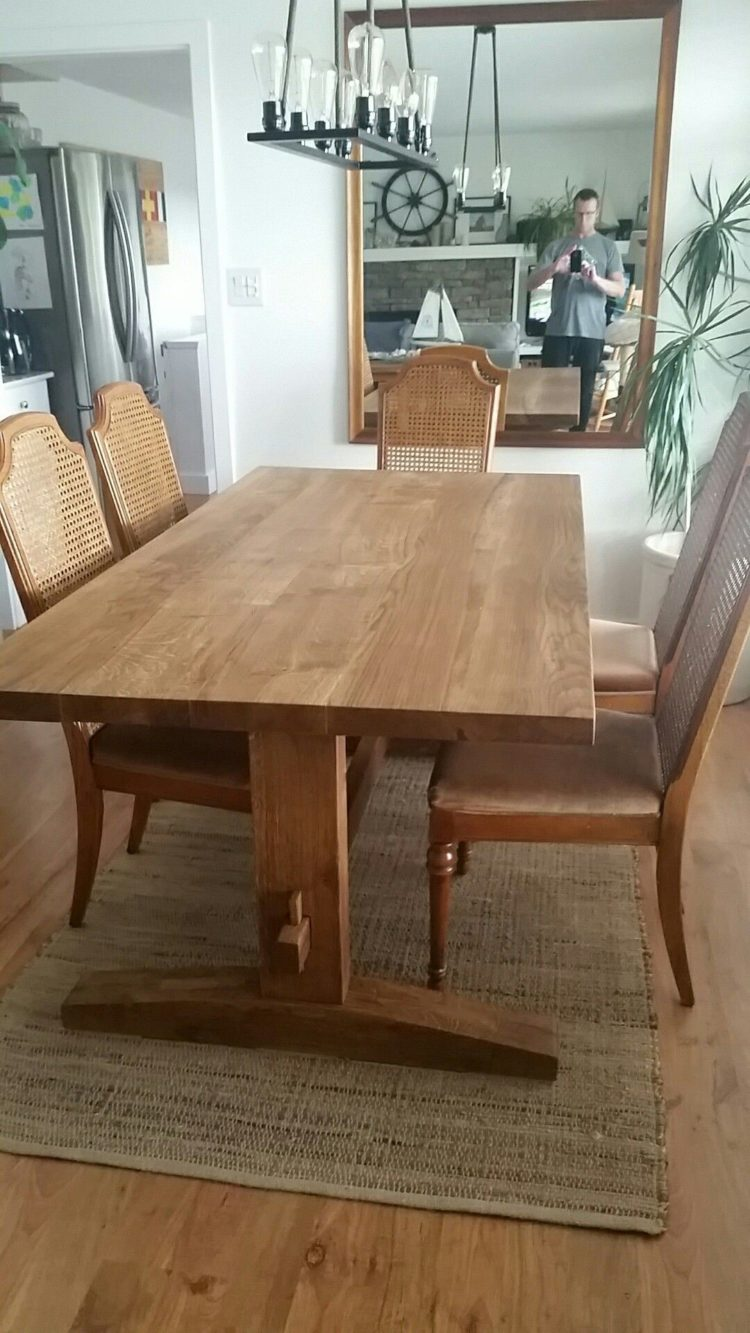 trestle table in french