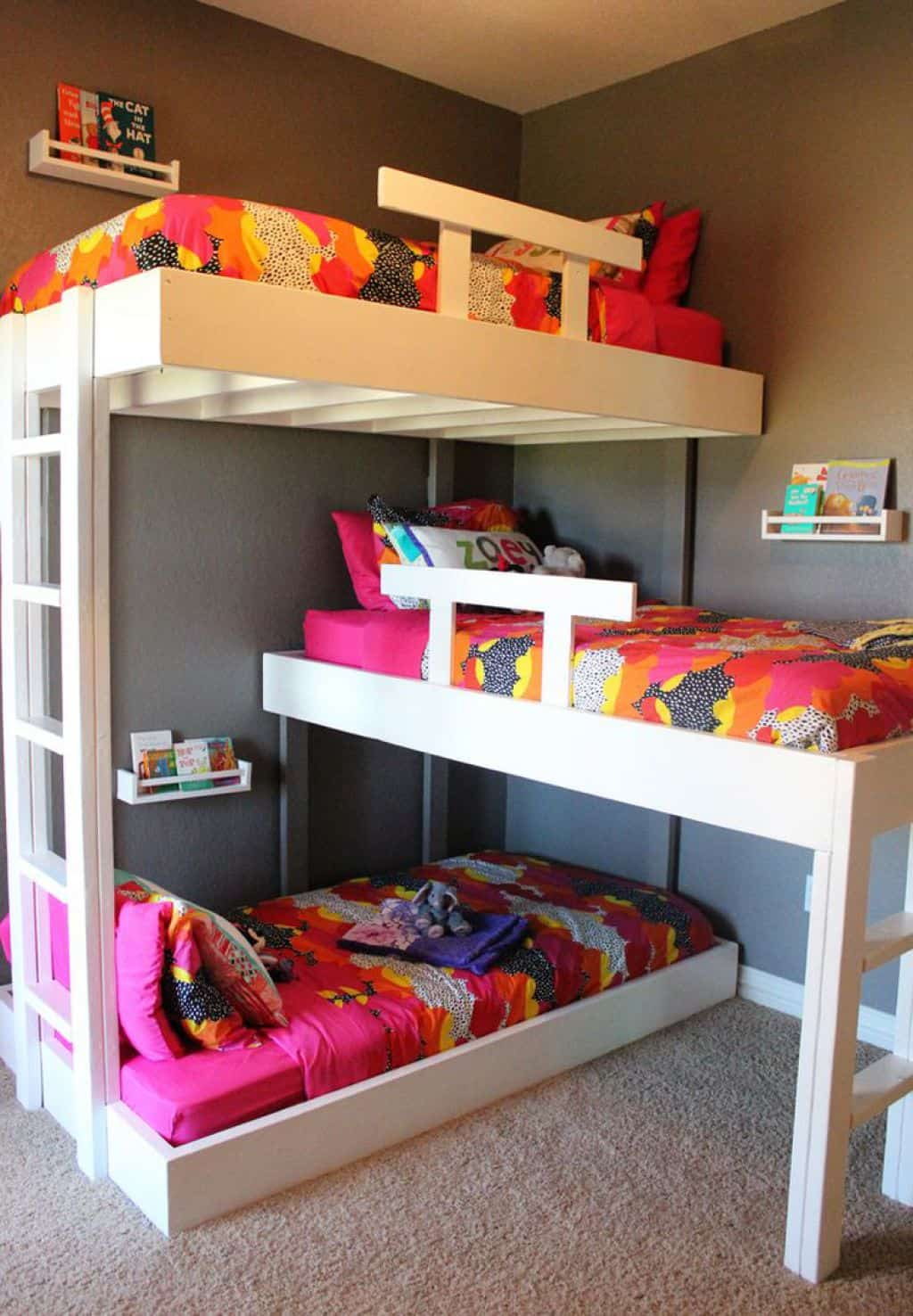 Picture of: 50 Cozy Triple Bunk Bed Your Kids Have Been Dreaming About