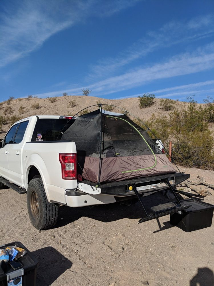 truck bed elevated tent