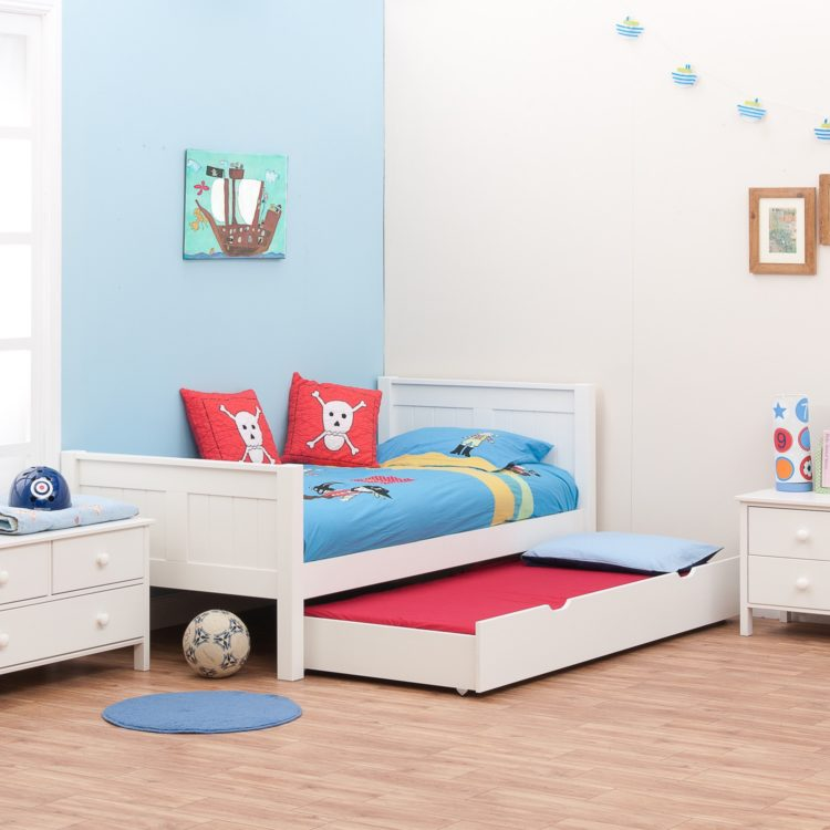 trundle bed gray
