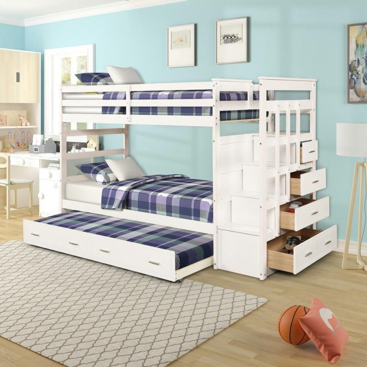 trundle bed grey