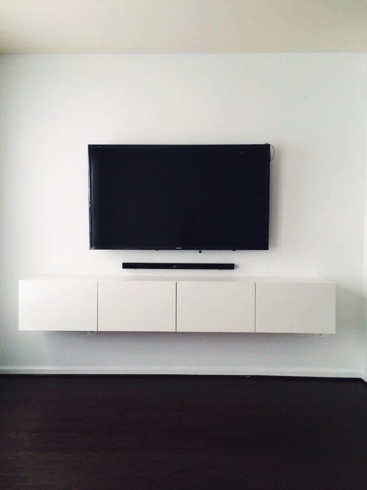 tv stand with mount on wall