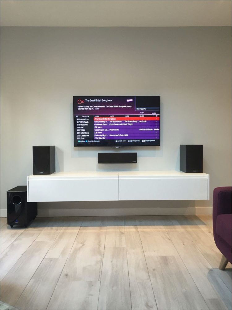 tv stand with mount small