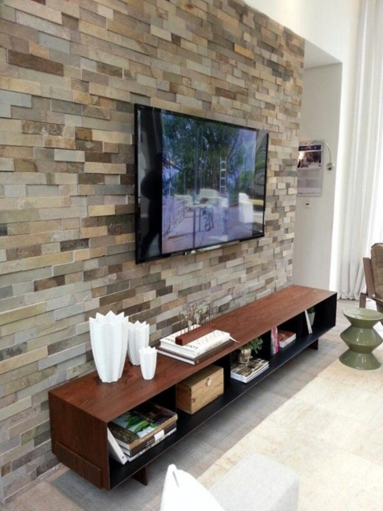 rustic tv stand with mount