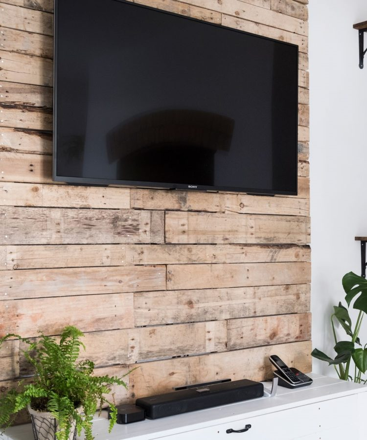tv stand with rear mount