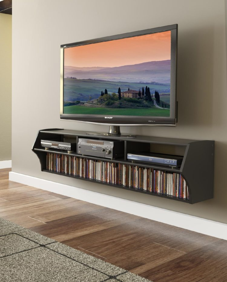 tv stand with flat panel mount