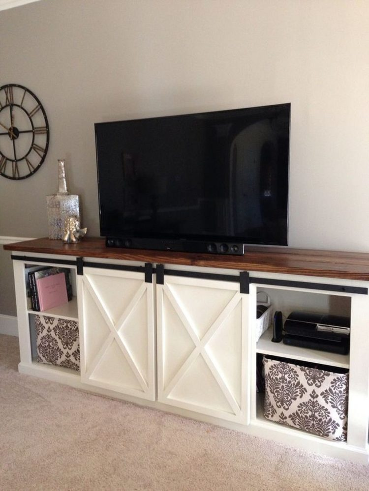 tv stand with panel mount