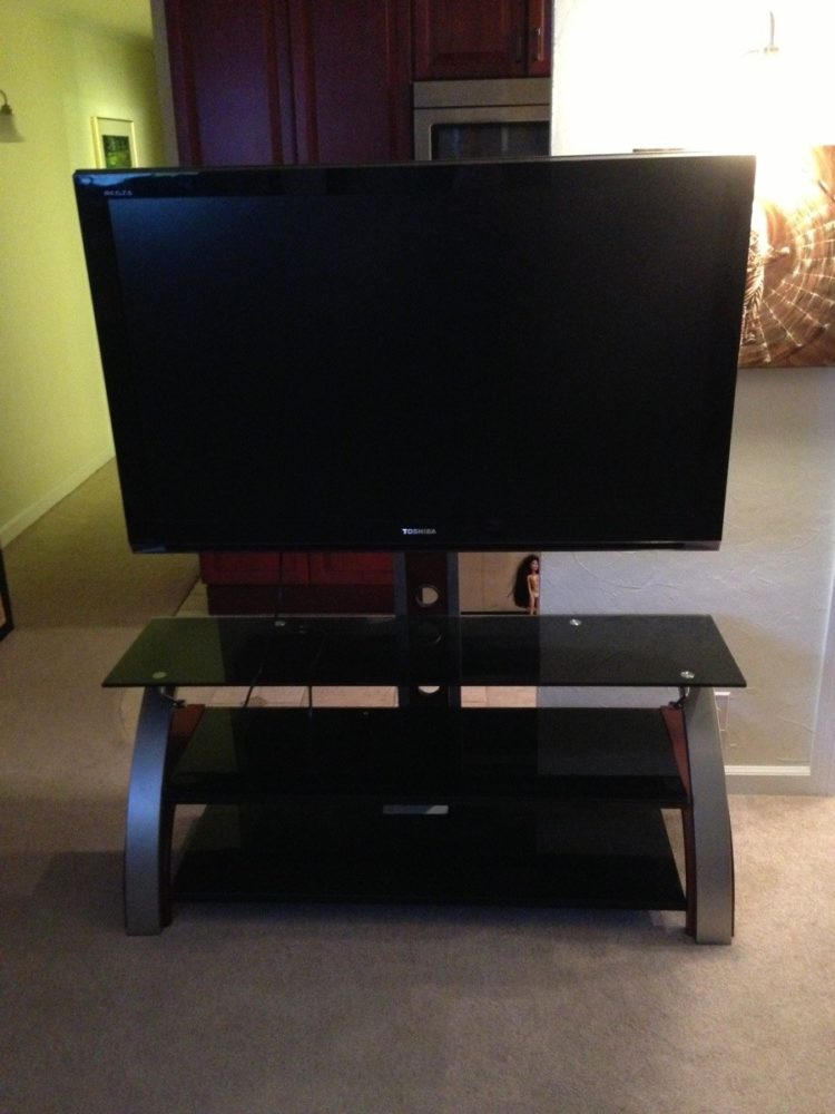 tv stand with mount the brick