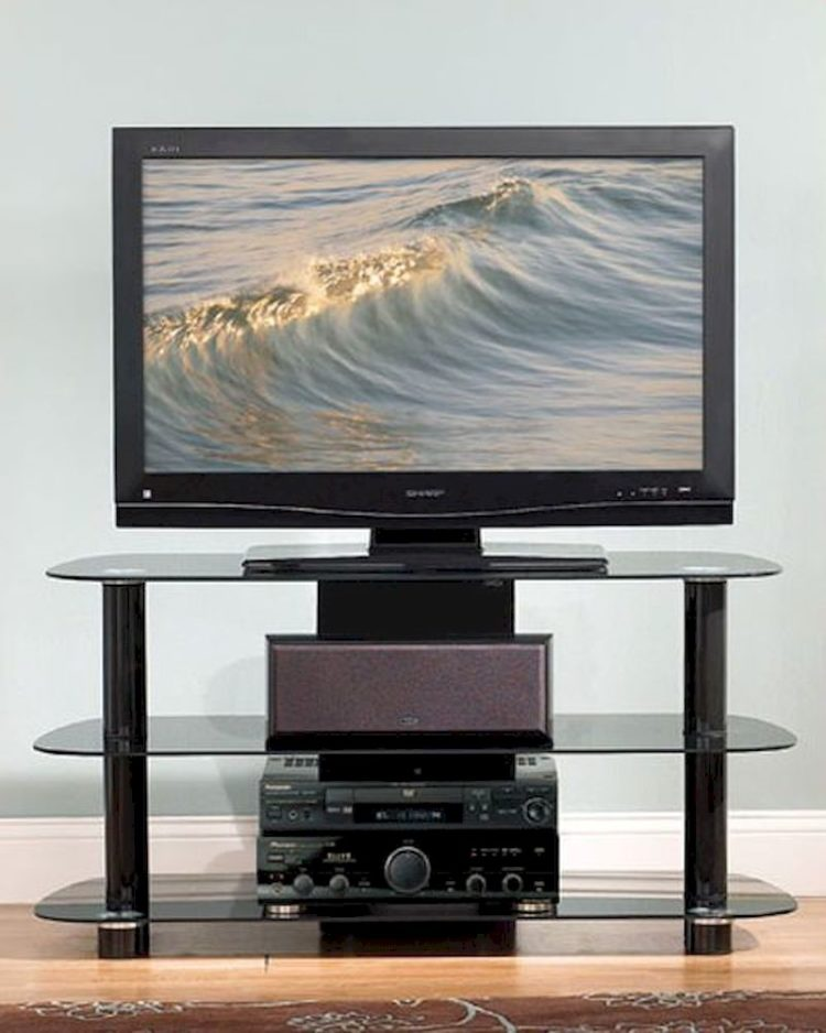 tv stand with mount set up