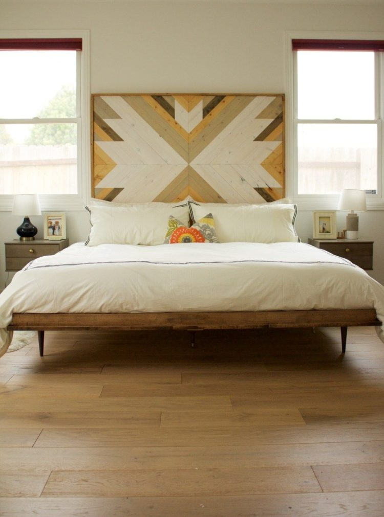 twin bed frame light wood