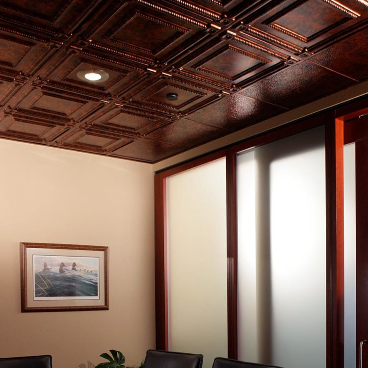 uneven coffered ceiling