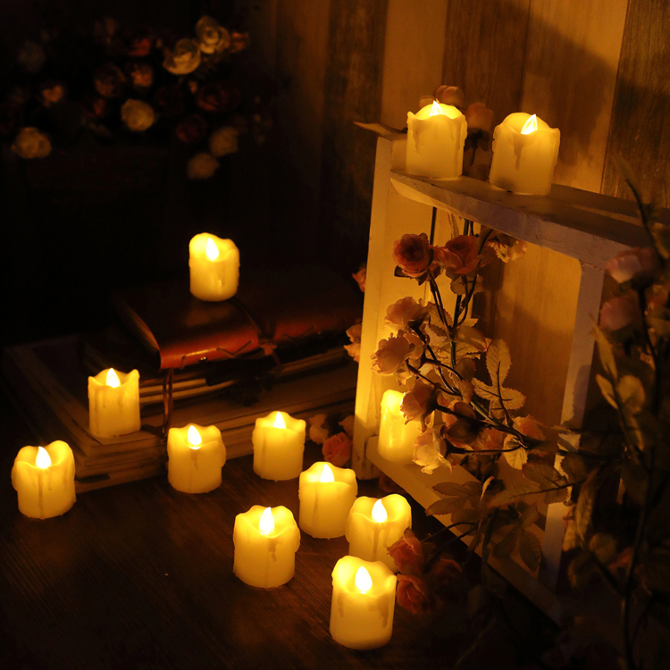 votive candles on timer