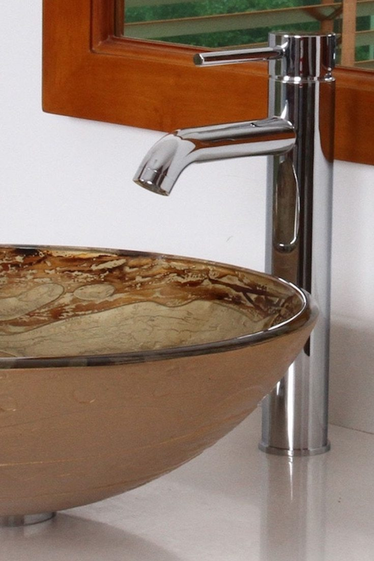 vessel sink farmhouse